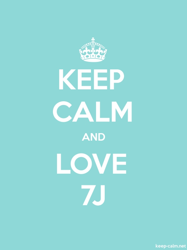 KEEP CALM AND LOVE 7J - white/lightblue - Default (600x800)