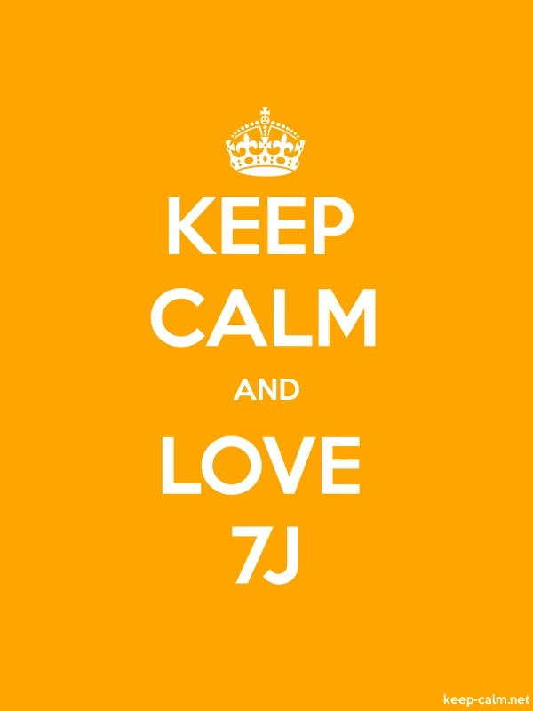 KEEP CALM AND LOVE 7J - white/orange - Default (600x800)