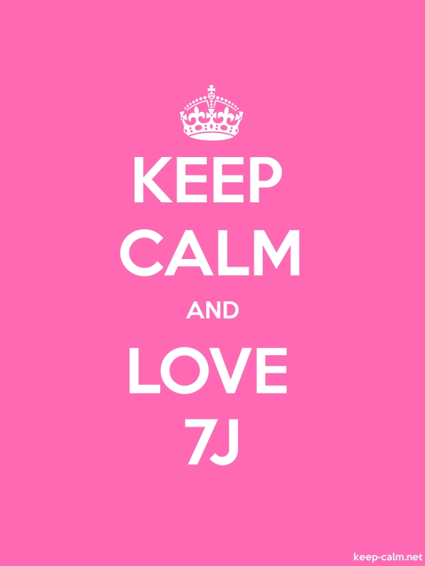 KEEP CALM AND LOVE 7J - white/pink - Default (600x800)