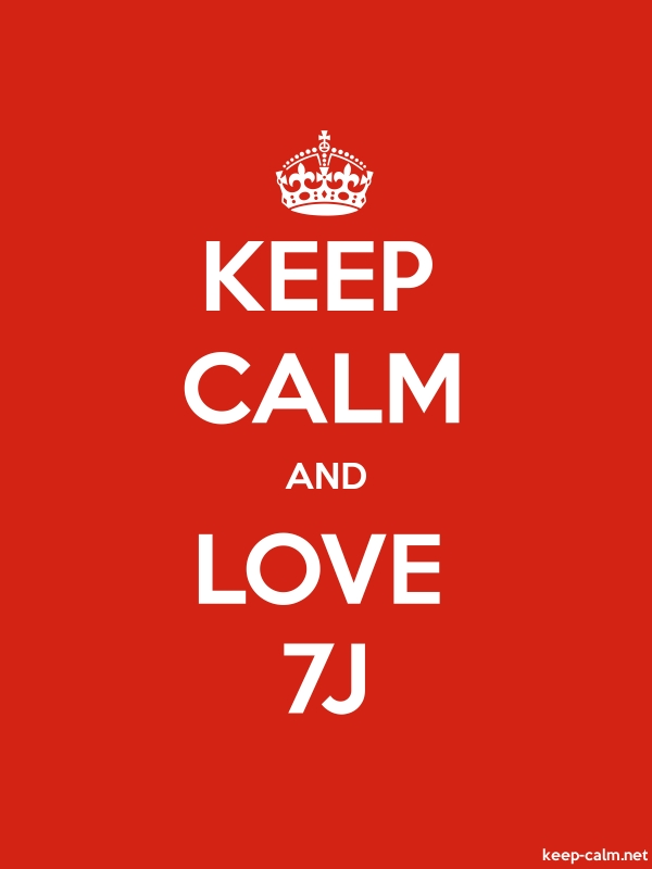 KEEP CALM AND LOVE 7J - white/red - Default (600x800)