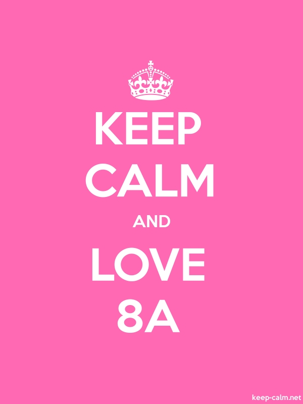 KEEP CALM AND LOVE 8A - white/pink - Default (600x800)