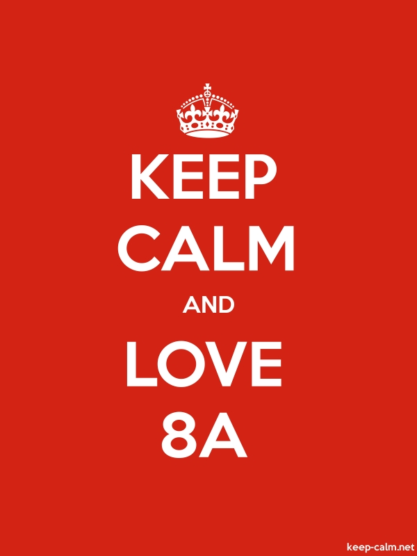 KEEP CALM AND LOVE 8A - white/red - Default (600x800)