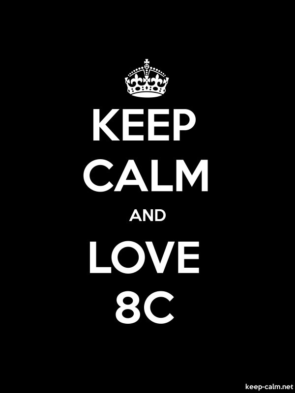 KEEP CALM AND LOVE 8C - white/black - Default (600x800)