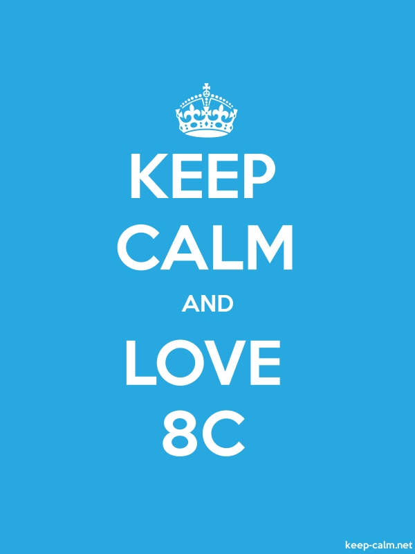 KEEP CALM AND LOVE 8C - white/blue - Default (600x800)