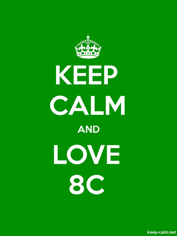 KEEP CALM AND LOVE 8C - white/green - Default (600x800)