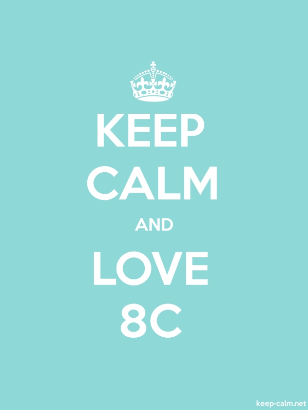 KEEP CALM AND LOVE 8C - white/lightblue - Default (600x800)