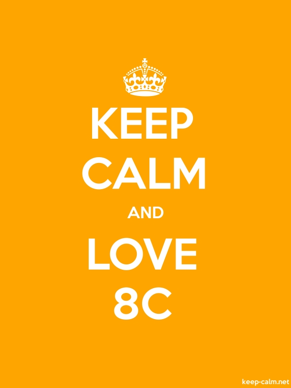 KEEP CALM AND LOVE 8C - white/orange - Default (600x800)
