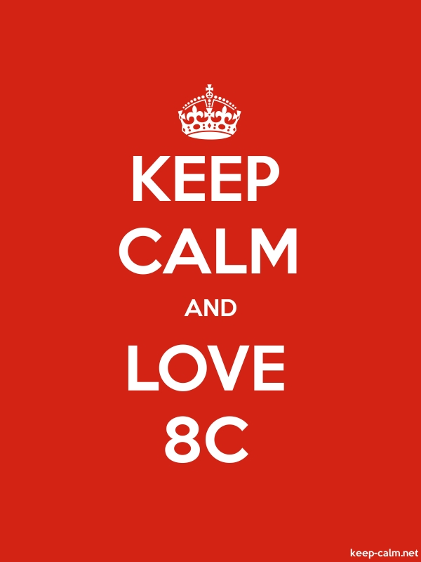 KEEP CALM AND LOVE 8C - white/red - Default (600x800)