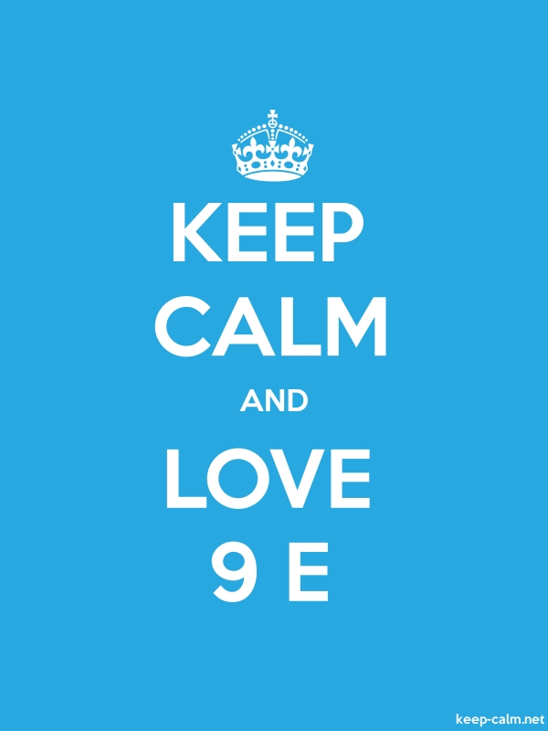 KEEP CALM AND LOVE 9 E - white/blue - Default (600x800)