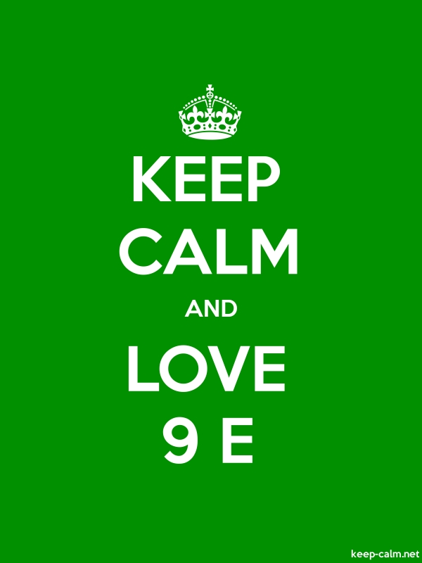 KEEP CALM AND LOVE 9 E - white/green - Default (600x800)