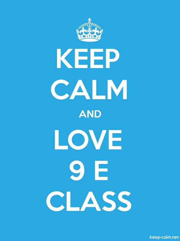 KEEP CALM AND LOVE 9 E CLASS - white/blue - Default (600x800)