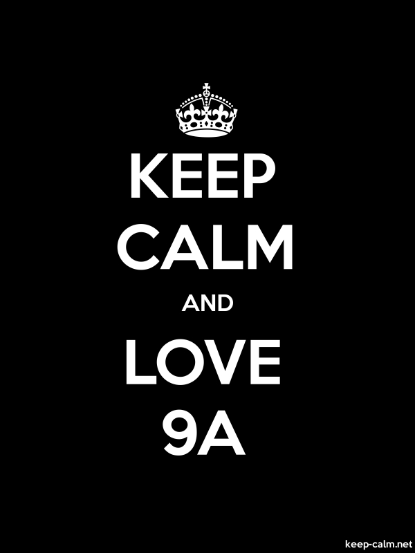 KEEP CALM AND LOVE 9A - white/black - Default (600x800)