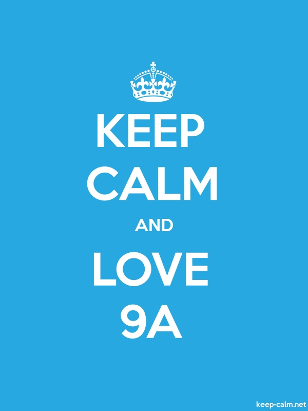 KEEP CALM AND LOVE 9A - white/blue - Default (600x800)