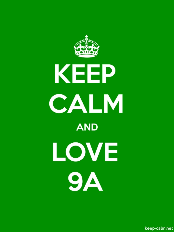 KEEP CALM AND LOVE 9A - white/green - Default (600x800)