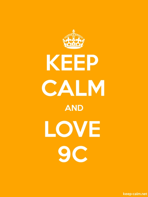 KEEP CALM AND LOVE 9C - white/orange - Default (600x800)