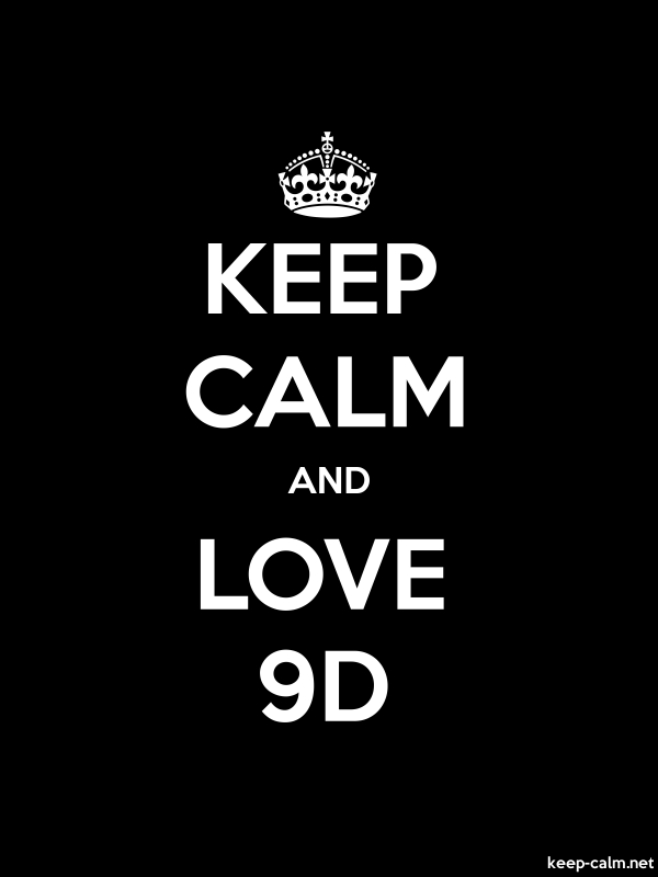 KEEP CALM AND LOVE 9D - white/black - Default (600x800)