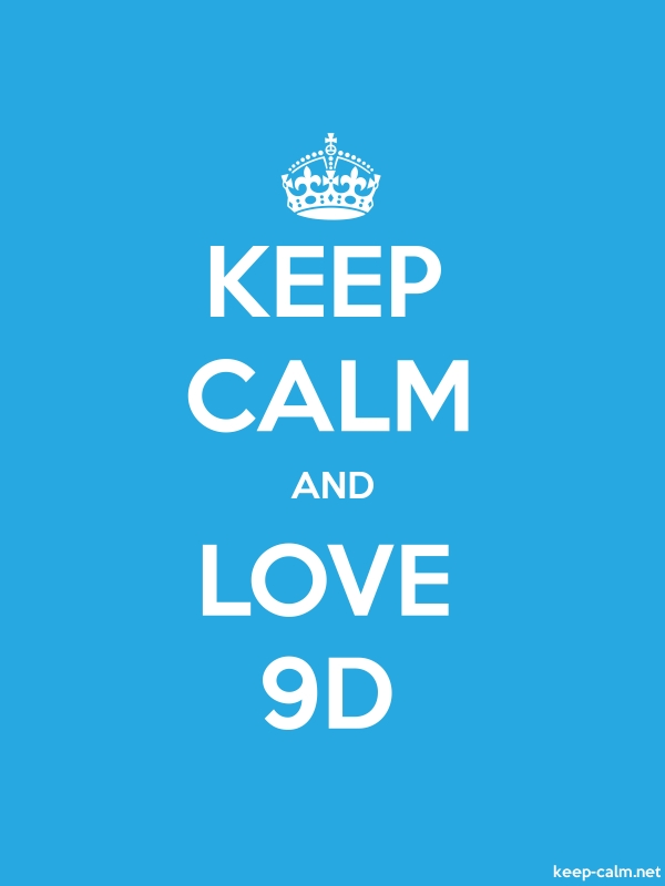 KEEP CALM AND LOVE 9D - white/blue - Default (600x800)