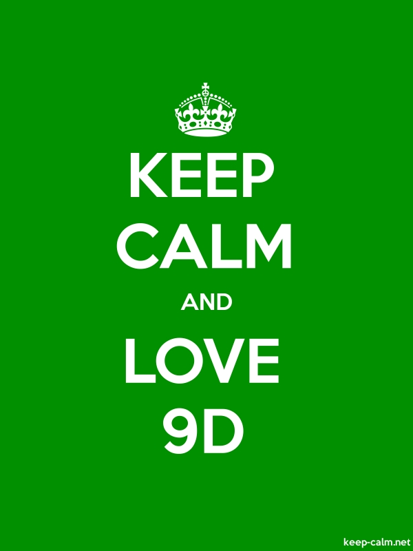 KEEP CALM AND LOVE 9D - white/green - Default (600x800)