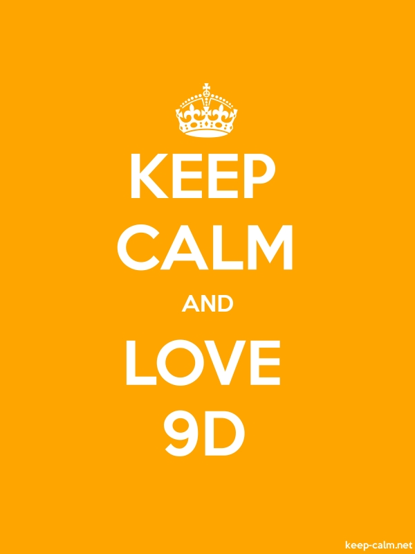 KEEP CALM AND LOVE 9D - white/orange - Default (600x800)