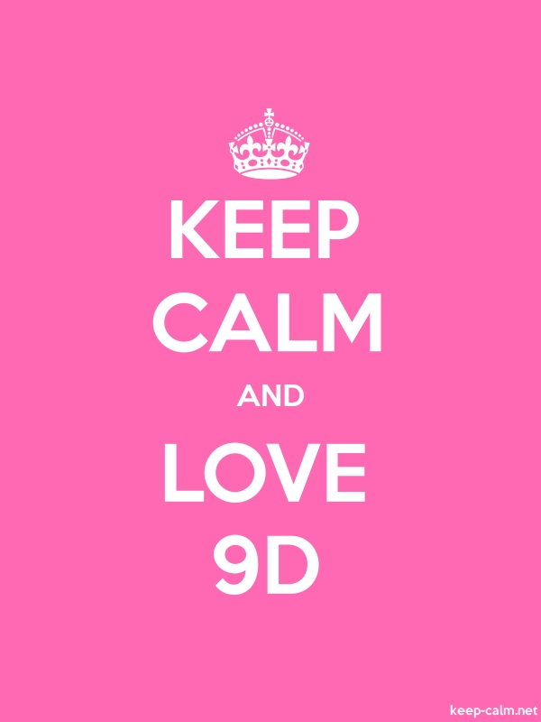 KEEP CALM AND LOVE 9D - white/pink - Default (600x800)