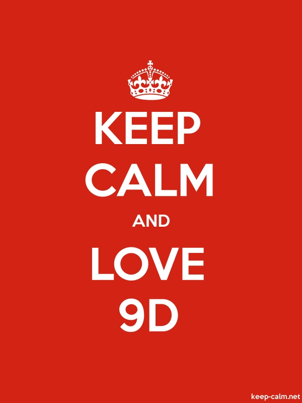 KEEP CALM AND LOVE 9D - white/red - Default (600x800)