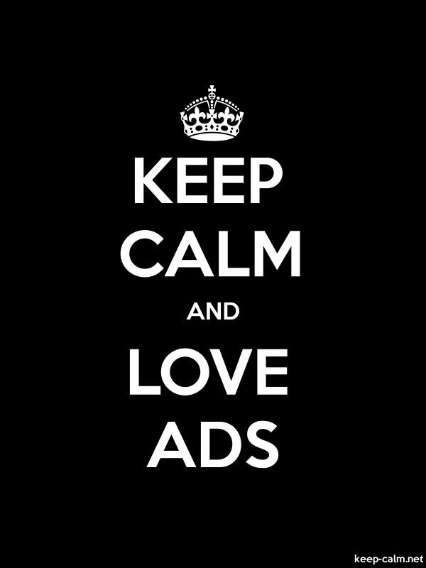 KEEP CALM AND LOVE ADS - white/black - Default (600x800)