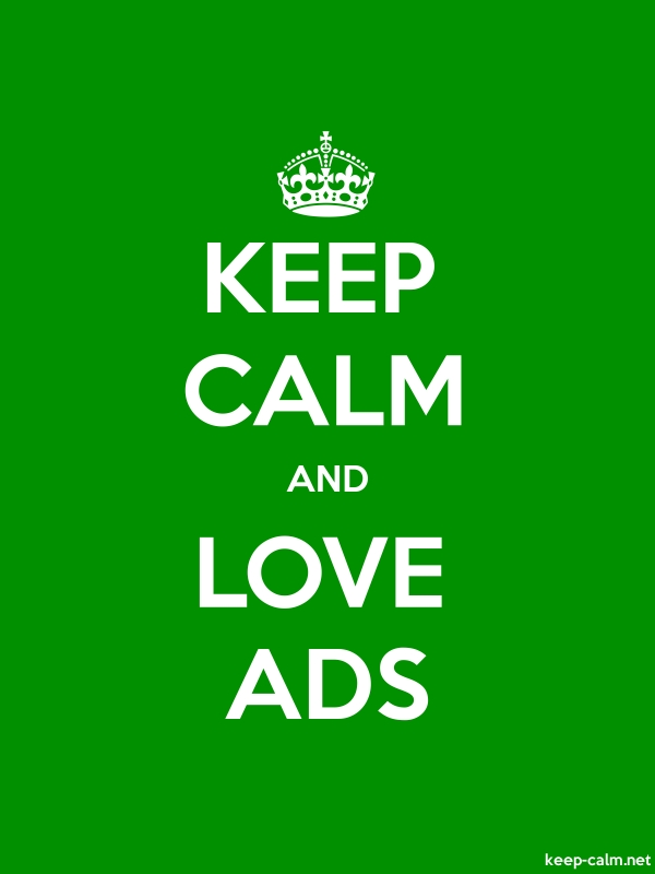 KEEP CALM AND LOVE ADS - white/green - Default (600x800)