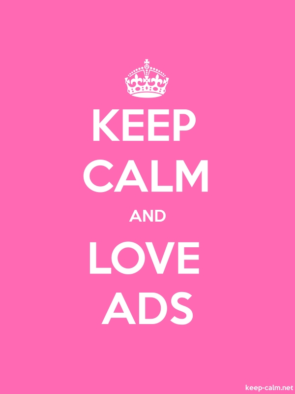KEEP CALM AND LOVE ADS - white/pink - Default (600x800)