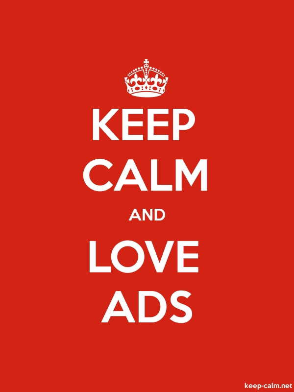 KEEP CALM AND LOVE ADS - white/red - Default (600x800)
