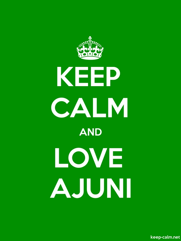 KEEP CALM AND LOVE AJUNI - white/green - Default (600x800)