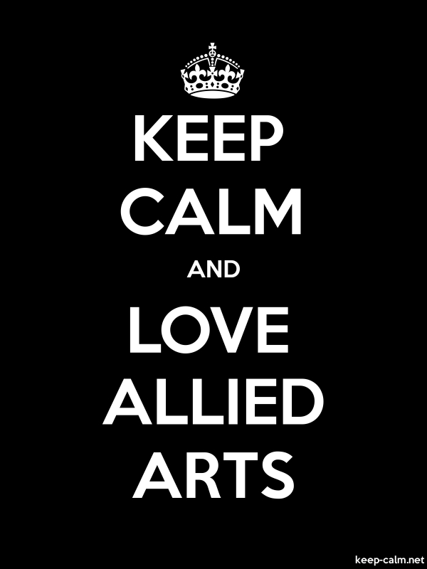 KEEP CALM AND LOVE ALLIED ARTS - white/black - Default (600x800)