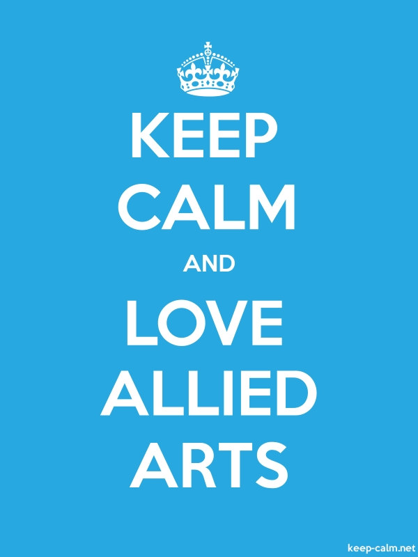 KEEP CALM AND LOVE ALLIED ARTS - white/blue - Default (600x800)