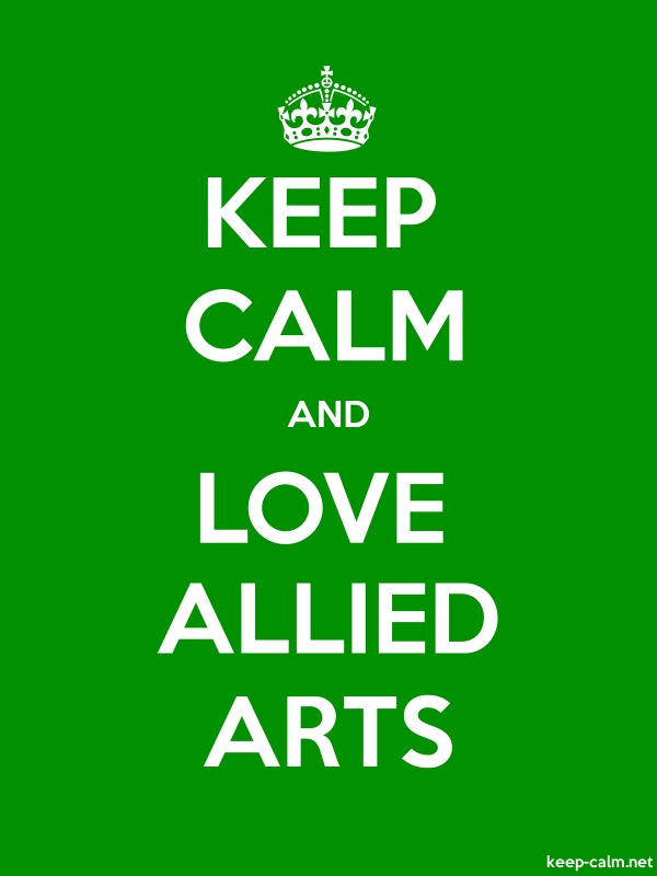 KEEP CALM AND LOVE ALLIED ARTS - white/green - Default (600x800)