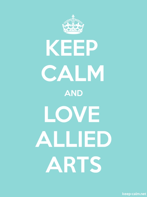 KEEP CALM AND LOVE ALLIED ARTS - white/lightblue - Default (600x800)