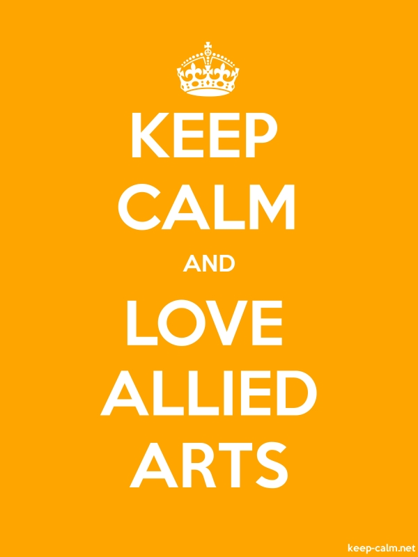 KEEP CALM AND LOVE ALLIED ARTS - white/orange - Default (600x800)