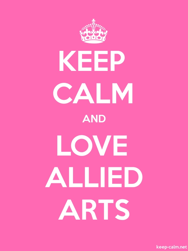 KEEP CALM AND LOVE ALLIED ARTS - white/pink - Default (600x800)