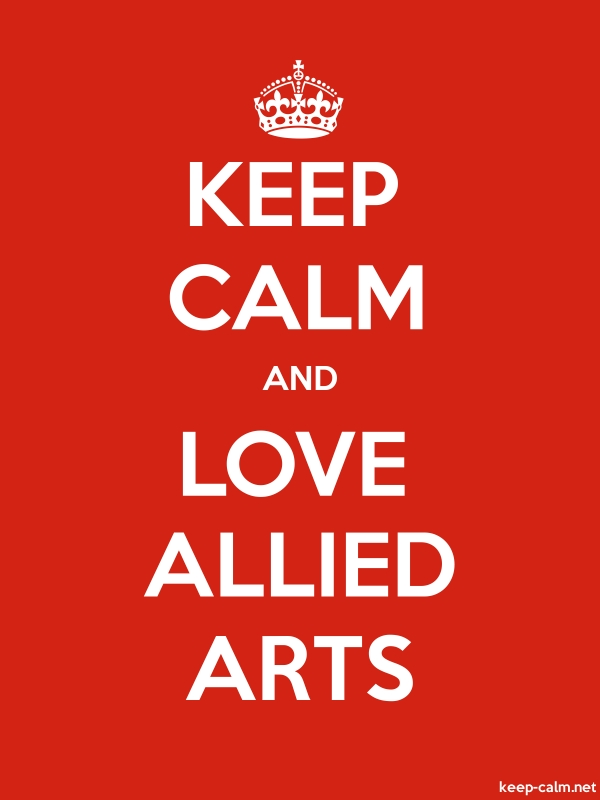 KEEP CALM AND LOVE ALLIED ARTS - white/red - Default (600x800)