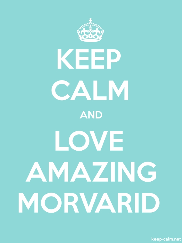 KEEP CALM AND LOVE AMAZING MORVARID - white/lightblue - Default (600x800)