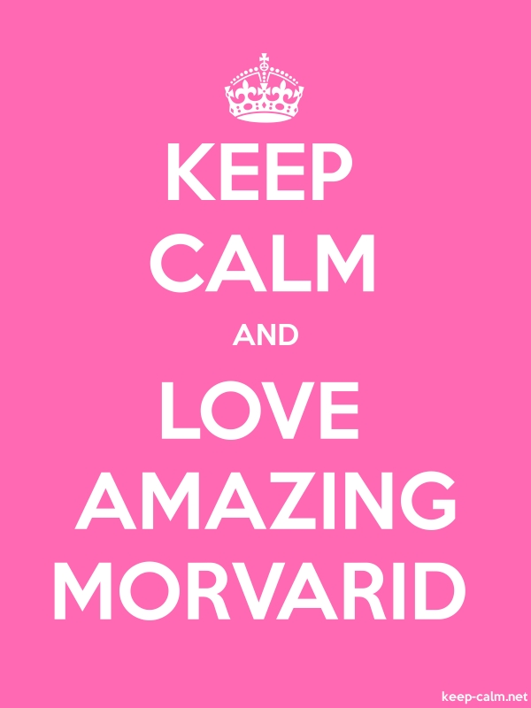 KEEP CALM AND LOVE AMAZING MORVARID - white/pink - Default (600x800)