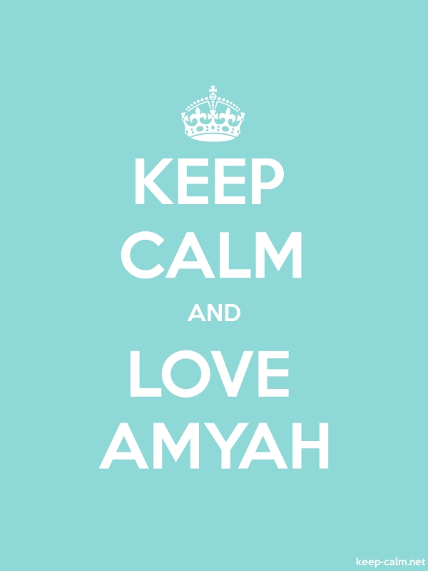 KEEP CALM AND LOVE AMYAH - white/lightblue - Default (600x800)