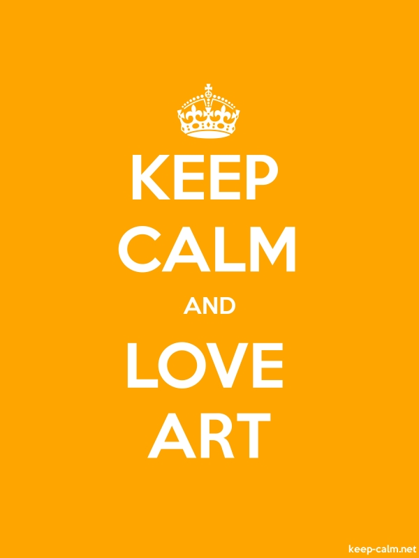 KEEP CALM AND LOVE ART - white/orange - Default (600x800)