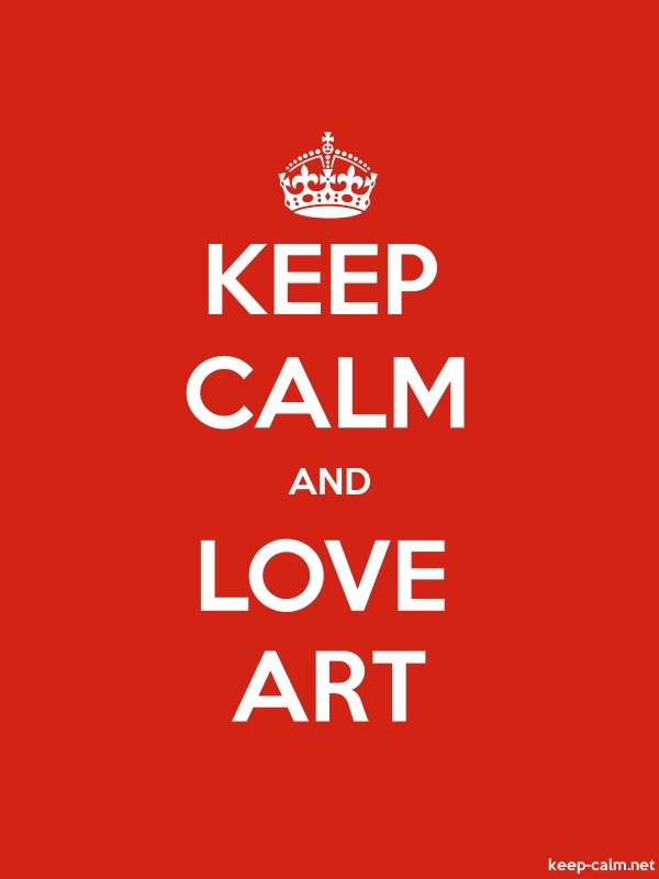 KEEP CALM AND LOVE ART - white/red - Default (600x800)