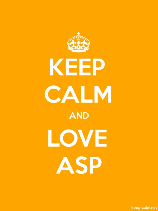 KEEP CALM AND LOVE ASP - white/orange - Default (600x800)