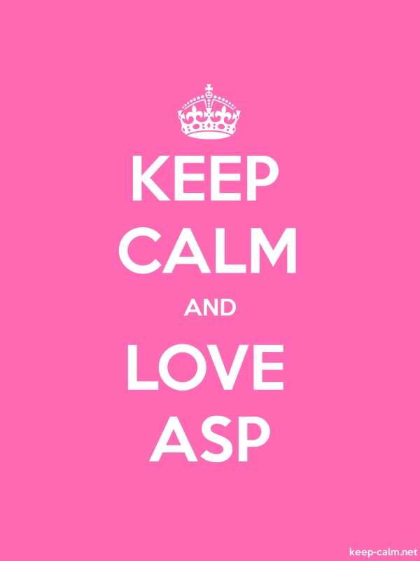 KEEP CALM AND LOVE ASP - white/pink - Default (600x800)
