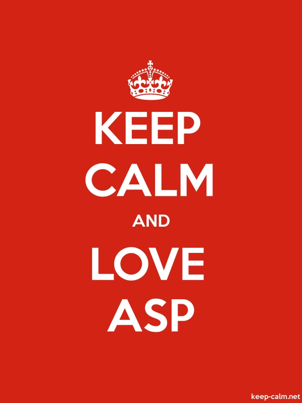 KEEP CALM AND LOVE ASP - white/red - Default (600x800)