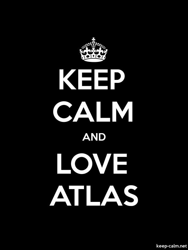 KEEP CALM AND LOVE ATLAS - white/black - Default (600x800)