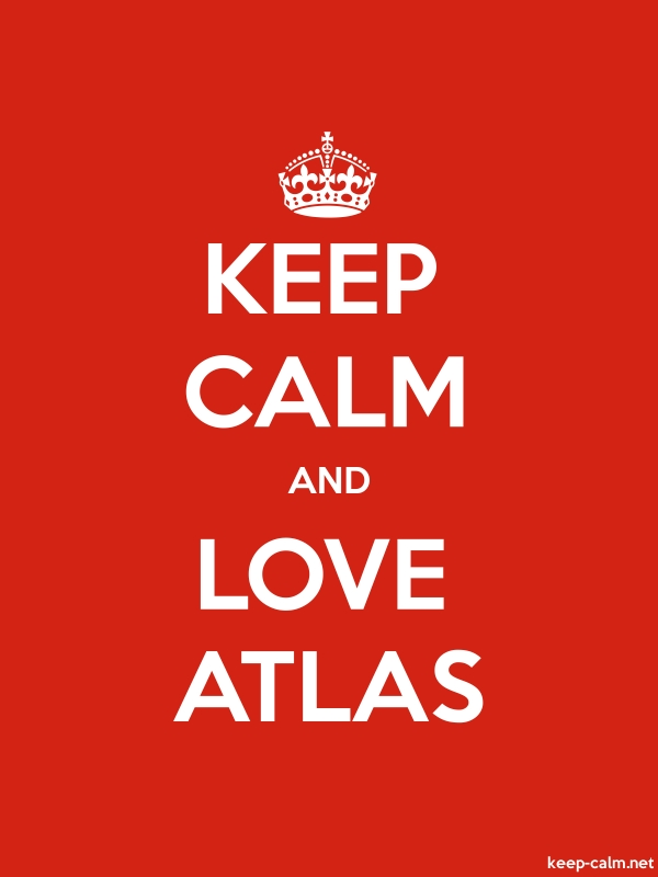 KEEP CALM AND LOVE ATLAS - white/red - Default (600x800)