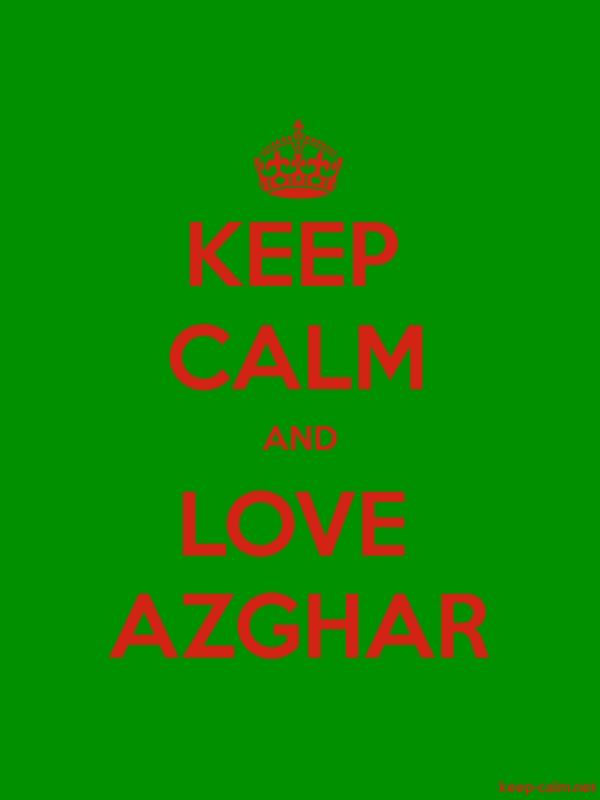 KEEP CALM AND LOVE AZGHAR - red/green - Default (600x800)