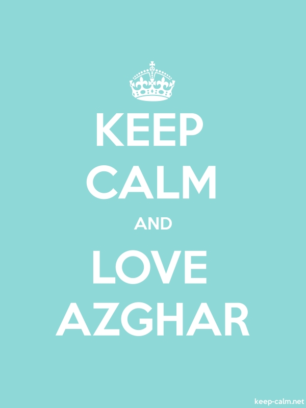 KEEP CALM AND LOVE AZGHAR - white/lightblue - Default (600x800)