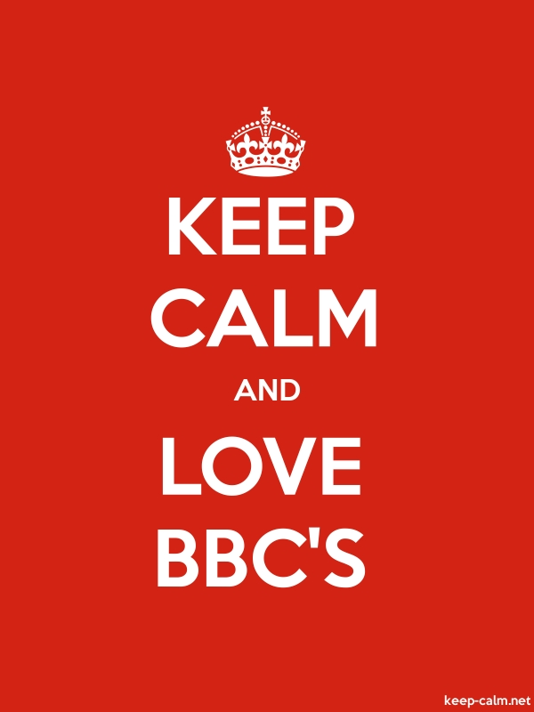 KEEP CALM AND LOVE BBC'S - white/red - Default (600x800)